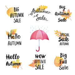 Collection of stickers big autumn sale.