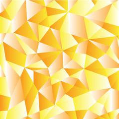 Orange abstract geometric pattern vector background formed with gradient triangles