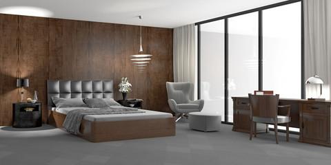 Schlafzimmer mit Relaxecke