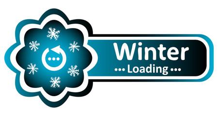 Double blue icon winter arrow loading