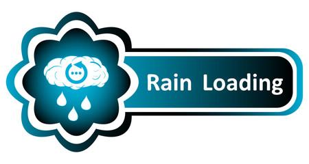Double blue icon rain drops loading