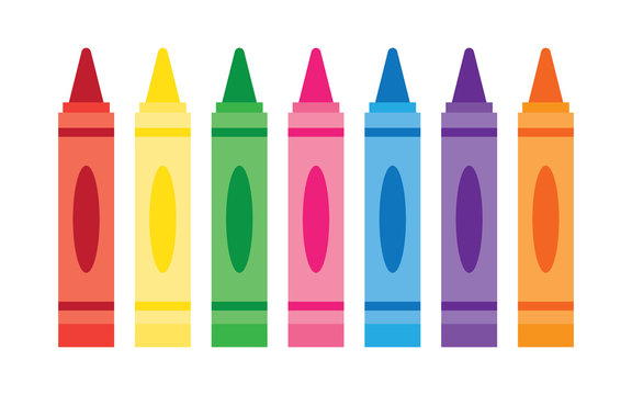 Wax colorful crayons