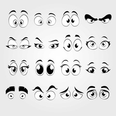 Cartoon eyes