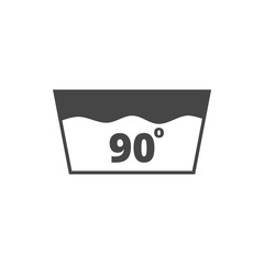 Wash icon, Machine washable at 90 degrees symbol