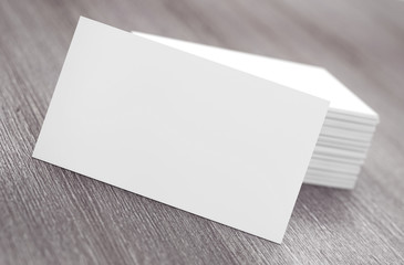 Stacks of Blank Business Cards. 3d Rendering