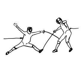 fechten fight  illustration