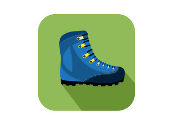 hikers boots on green backgrounds  ,sport,vector illustration