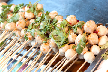 pork meat ball grill