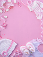 Pink Baby Shower Nursery Background