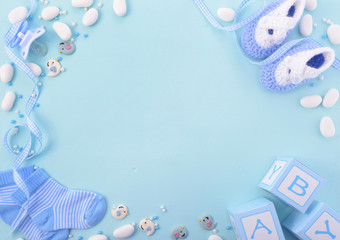 Blue Baby Shower Nursery Background