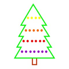 Christmas tree over white background. Christmas concept.