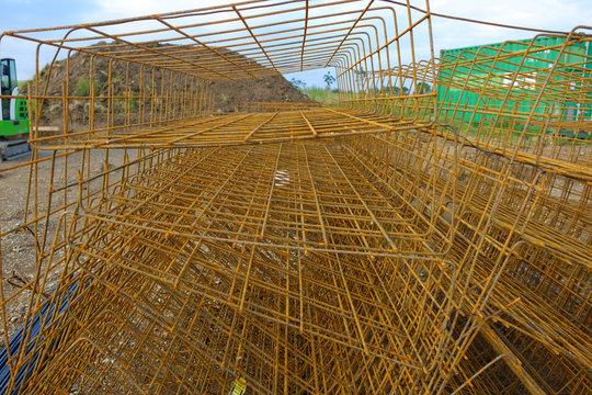Betonstahl Baustelle Neubaugebiet