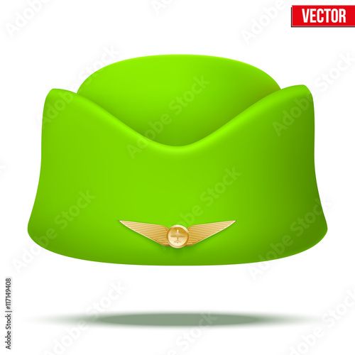 8af2cde2b3284 Classic Stewardess hat forage-cap of air hostess uniform. Vector ...
