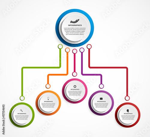 quotinfographic design organization chart template