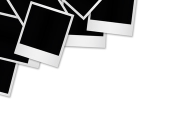 Blank photo papers isolated.