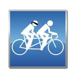 Handisport - Vélo - Non voyant