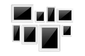 White frame isolated