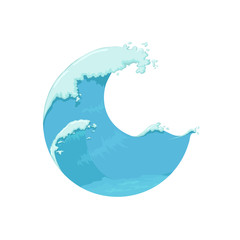 Circle Blue Ocean Wave - Giant Wave