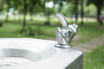 Public drinking water at the Garden