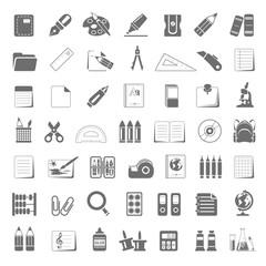 Black Icons - School Supplies