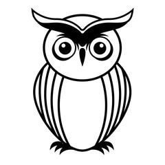 owl bird cute icon
