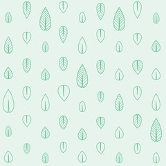 Spring season background with green leaves. Vector illustration