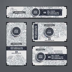 Corporate Identity vector templates doodles photo