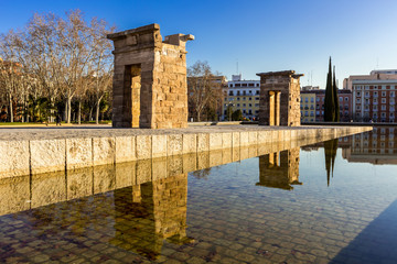 Temple debod Madrid,Spain in summer.