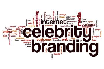 Celebrity branding word cloud concept