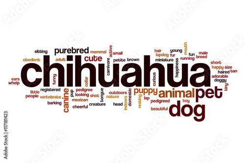 chihuahua word cloud concept stockfotos und lizenzfreie bilder auf bild 117181423. Black Bedroom Furniture Sets. Home Design Ideas