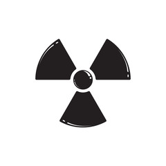 Radiation symbol isolated on white. Vector illustration EPS 10