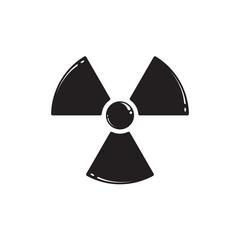 Radiation symbol isolated on white. Vector illustration EPS 10