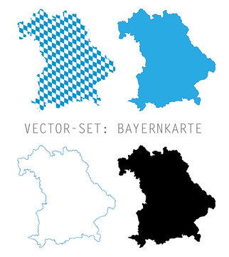 Bayern Karten Umriss - Vector Set