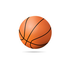 Vector basketball on a white background
