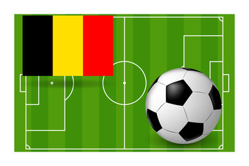 the ball and the flag of Belgium