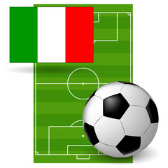 the ball and the flag of Italy