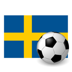 the ball flag of Sweden