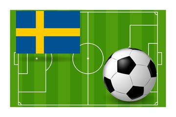the ball flag of Sweden