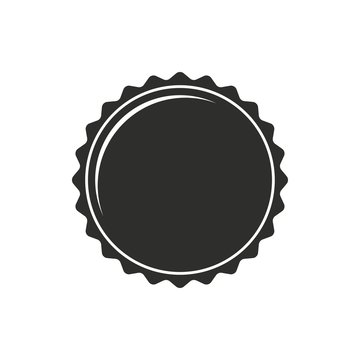 Bottle cap - vector icon.