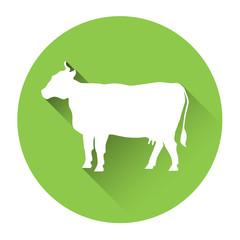 Cow Farm Animal Silhouette Icon