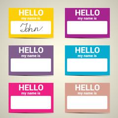 Hello My Name Is. Name Tag Set.