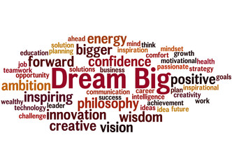 Dream Big, word cloud concept 8