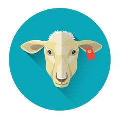 Sheep Farm Animal Icon
