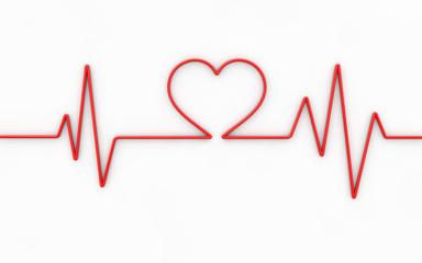Heart monitor. 3d illustration