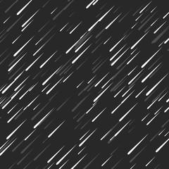 Rain background autumn night dark style, droplets random pattern, messy flow meteor shower