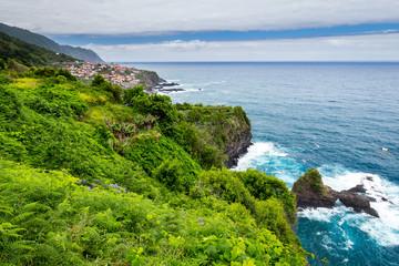 Coast and cliffs at Porto Moniz, Madeira, Portugal
