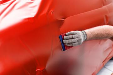 profi foliert auto mit matt folie in rot car wrapping auto folierung