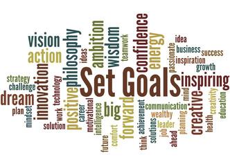 Set Goals, word cloud concept 5