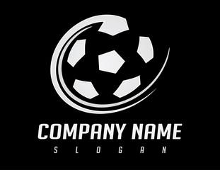 Soccer ball design black background