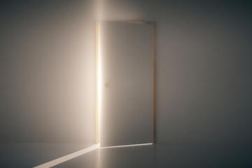 Light shining through open door